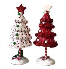 RETIRED KURT ADLER 2 ASSORTED DECORATIVE CHRISTMAS TREES, NEW