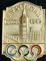 VERY RARE EXCELLENT CONDITION 1948 LONDON  XIV OLYMPIAD BADGE REG NO 851108