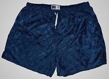 Navy Blue Checker Nylon Soccer Shorts by Don Alleson - Men's Large