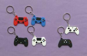 XBOX PLAYSTATION GAME CONTROLLER GAMER KEYRING Rubber Party bag filler NEW