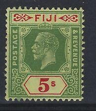 FIJI SG 241 5/- Green & Red / yellow Mounted Mint Cat £55