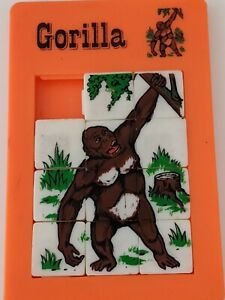 Collectible Vintage Gorilla Plastic Slide Puzzle Brain Teaser Hong Kong
