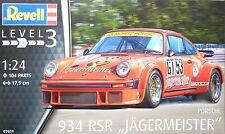 Revell 07031 Porsche 934 RSR Jägermeister, Bausatz, 1:24, Neu