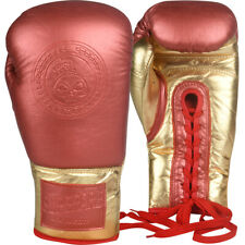 Superare MK1 Lace Up Training Boxing Gloves - Red/Gold
