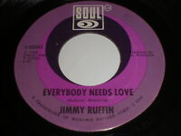 Jimmy Ruffin: Everybody Needs Love / I'll Say Forever My Love 45 - Soul