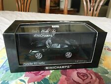 Minichamps Porsche 911 (993) Turbo, Fir Green Metallic. Year 1995, 1/43 Diecast.