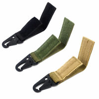 5pcs Tactical Nylon Webbing Hang Buckle Molle Backpack Accessories Keychain Clip