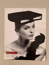 HENRY CLARKE,'GIVENCHY,1955' RARE AUTHENTIC 1990 ART PHOTO PRINT