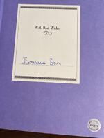 SIGNED 1st EDITION A MEMOIR BARBARA BUSH  First Lady Hologram COA (M)