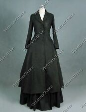 Victorian Sherlock Holmes Black Punk Coat Dress Witch Halloween Costume C002
