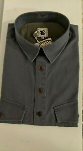Pretty Green Button Up Over Shirt | Mens New Medium Grey Short Sleeve | RRP £85