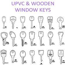 UPVC Handle & Wooden Window Lock Spare Keys  -Cotswold-WMS-ERA *ALL TYPES*