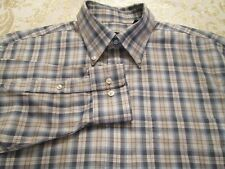 JOS A BANK TRAVELERS COLLECTION BEAUTIFUL PLAID SHIRT SIZE M DRESS/CASUAL