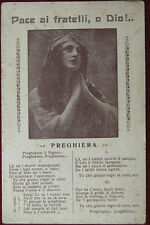 PREGHIERA Pace ai Fratelli di Dio no viaggiata anni 10 f/p  #6236