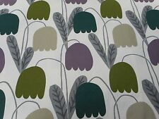 Harlequin/Scion Fabric 'Fritilla' 3.8 METRES Foxglove/Moss/Forest - Embroidered