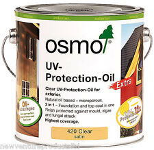 Osmo UV Protection Oil Extra 420 D Clear Satin 2.5 litre - For Exterior Wood