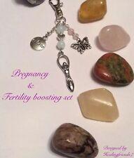 Fertility & Pregnancy Boosting Large Gemstone Healing Gift Set.Childbirth.Chakra