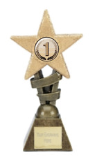 Number 1 Glitter Star Trophy Award Available in four sizes ENGRAVED FREE