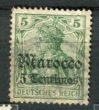 GERMAN COLONIES; MAROKKO early 1905 Wmk. issue used 5c. value