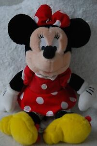 """Vintage with Tag Disneyland Genuine Minnie Mouse Soft Toy in Classic Outfit 11"""""""