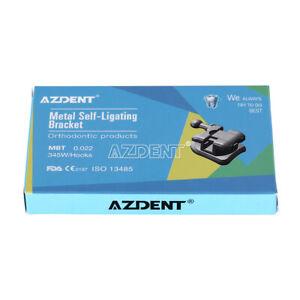 AZDENT Dental Orthodontic Brackets Self Ligating MBT.022 Hooks345+Buccal Tube