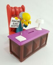 THE SIMPSONS - MR BURNSPIGGY BANK 17539-  NEW 2009 - SITTING ON CHAIR BY DESK