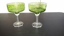 Margarita Bar Glasses Lime Green Bubble Glass 16 oz