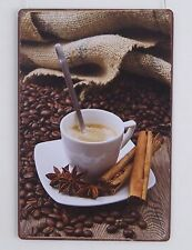 COFFEE Advertising Vintage Metal Tin Sign Aesthete Wall Plaque Plate Cafe Art