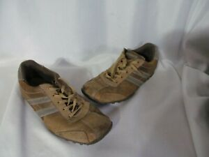 Sketchers Men's Shoes Size 9.5 Leather Uppers Balance Brown Lace Up Distressed