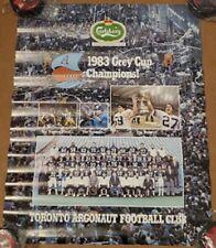 "1983 Toronto Argonauts Grey Cup Champions Carlsberg Poster 2 Sided Size21.5""x17"""