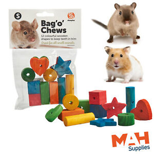 Sharples Bag O' Chews Small Animal Pine Wooden Shapes for Chewing Gnawing Teeth