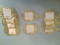 10 TONIC GOLD OR SILVER FOILED ON WHITE CARD DIE CUT & EMBOSSED VINTAGE TAGS