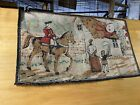 Vintage 20s HUMPTY DUMPTY Hook Rug Machine Colonial Horse Country Revolution