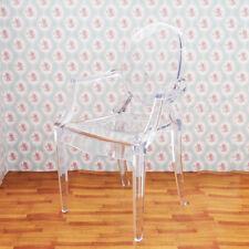 1:6 Dollhouse Arm Chair Transparent Plastic for Barbie Furniture Miniature Decor