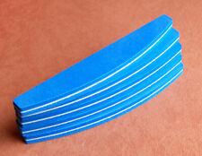 5 x Halbmond Bufferfeile 100/180 in Farbe Blau  Schwammfeile Buffer Feilen