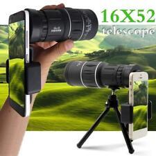 16x52 HD Monocular Dual Focus Optics Zoom Telescope+Tripod+Holder For Phone