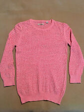 Womens Jack Wills Jumper Pink Cotton, Size 8 Great Condition Plenty Life In It