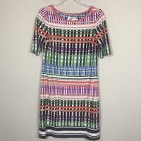 Eliza J Women's size 8 Multi Color 3/4 Short Sleeve Dress