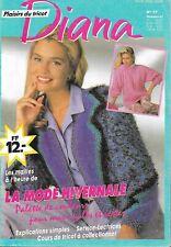 Catalogue DIANA N° 77 - décembre 1992 - Mode hivernale - 14 modèles de pulls
