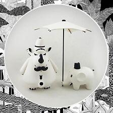 Frank Kozik- Arts Unknown 'William, Reginald & Henry' WHITE MONO Labbit Kidrobot