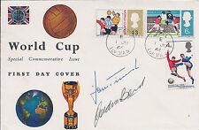 Gordon BANKS & Hans TILKOWSKI Signed Autograph FDC COA AFTAL 1966 World Cup RARE