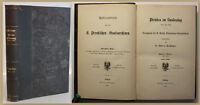 Poschinger Publicationen aus den Preußischen Staatsarchiven 1882 Geschichte sf