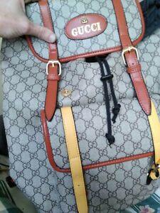 Gucci Gg Print Backpack