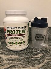 Patriot Power PROTEIN (Berry Flavor) 30 Servings & Free Blender Bottle! NEW!!