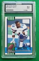 1990 Topps #27T Emmitt Smith HOF ROOKIE Dallas Cowboys AGS MINT 9 (not PSA)