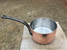 "Dehillerin 2.5 mm French 5.675"" Copper Sauce Pan Pot S.S. Lined Cast Iron Handle"
