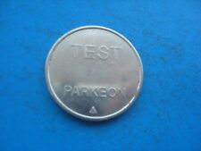 TEST PARKEON SILVER  COLOURED TOKEN COIN 17C5