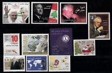 LEBANON - LIBAN MNH LOT OF 11 NEW STAMPS (2012-2013)