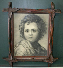 Antique Original Charcoal Painting - Framed - Marion Lawrence Peabody