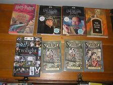 Mixed Lot of Lemony Snicket SPIDERWICK CHRONICLES Twilight HARRY POTTER Soft &